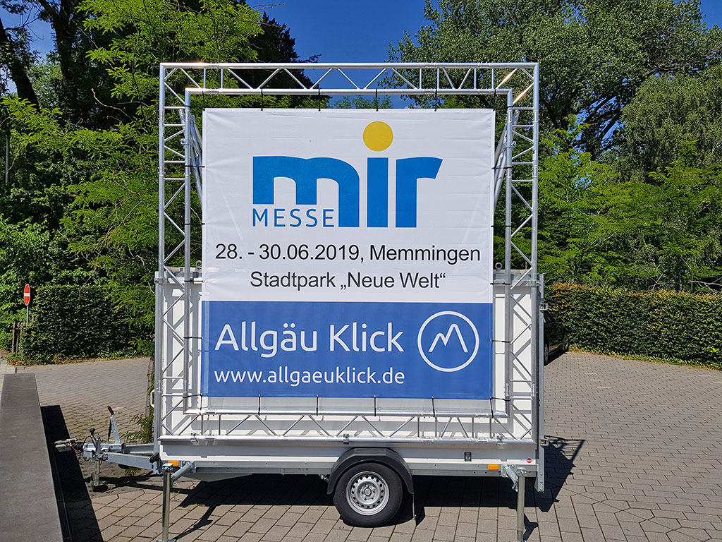 Promotion für die Messe mir in Memmingen